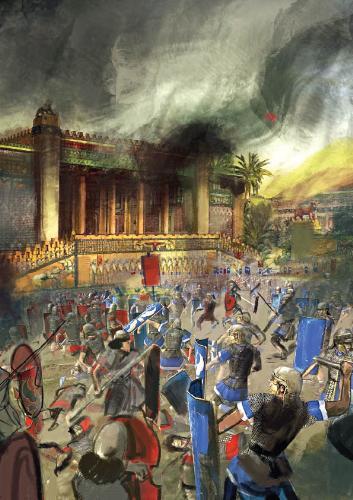 ویرانی تخت جمشید به دست لشکریان اسکندر
