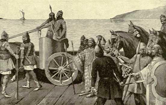 حمله اسکندر به ایران- دراین صحنه سربازان پارسی و مادی را می بینید