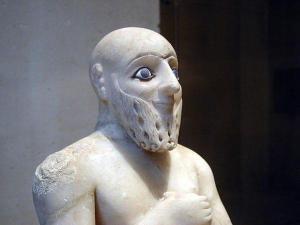 مجسمه مرمري از معبد ايشتر - 2400 پ م