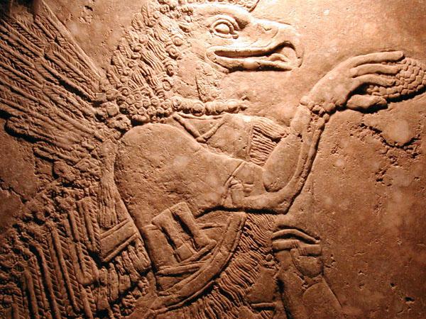 حيوان افسانه اي از كاخ نمرود - 883 پ م