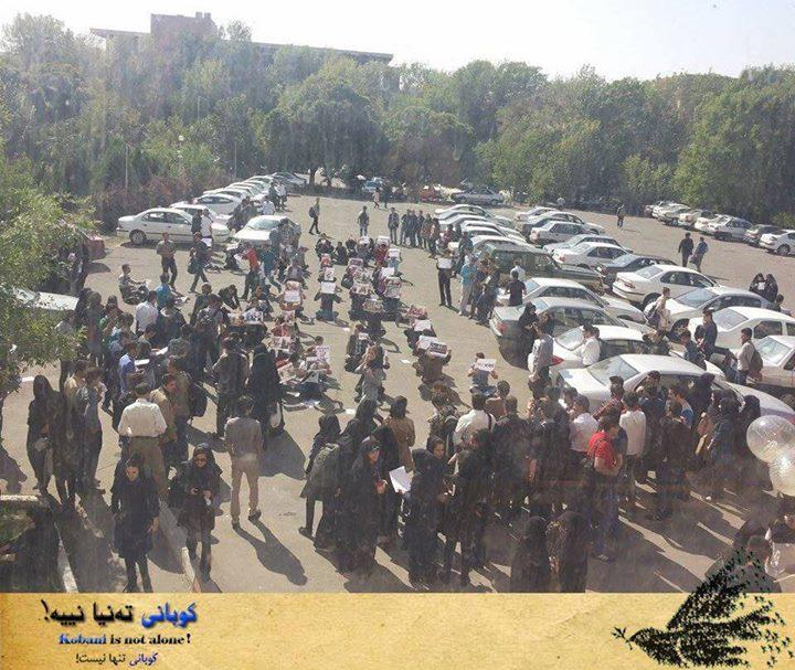 اعتصاب در دانشگاه تبریز، در حمایت از کوبانی