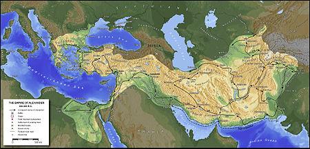 نقشه متصرفات اسکندر مقدونی