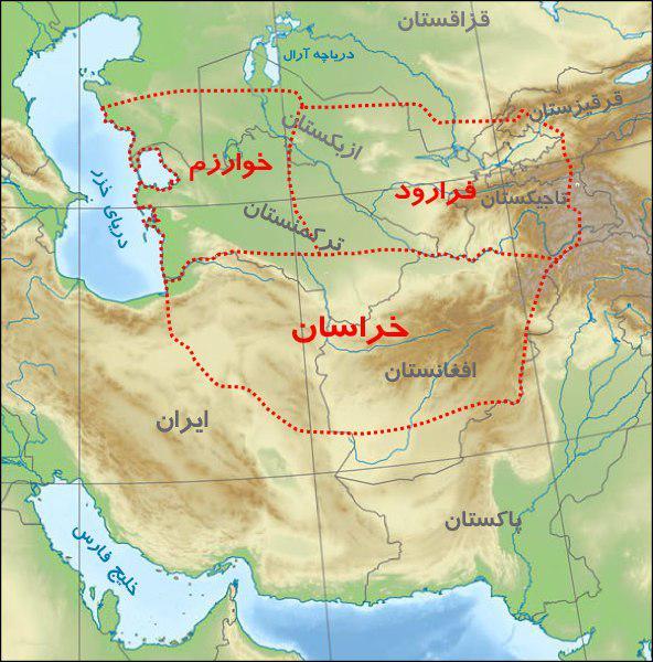 نقشه خراسان بزرگ