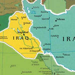 irani_iraq_map