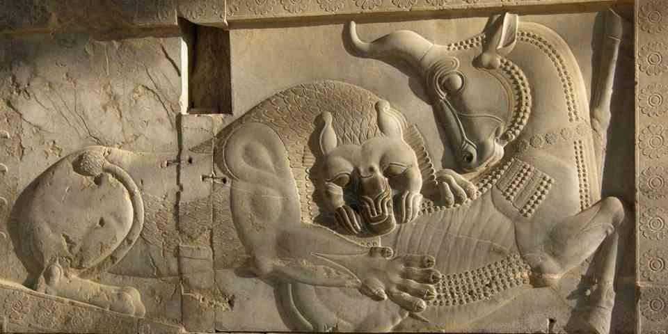 نگاره پارسه (تخت جمشید) مهر وماه